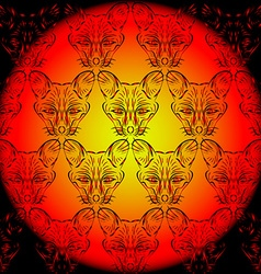 Contour foxes and chanterelles vector image