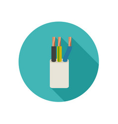 electrical cable icon vector image