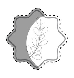 emblem rustic branches plants decoration vector image vector image