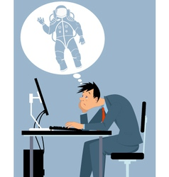 I want to be an astronaut vector image vector image