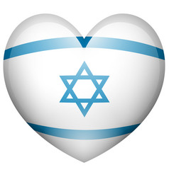 israel flag in heart shape vector image