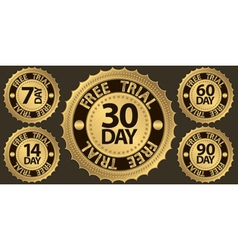 30 day free trial vector image