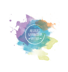 abstract watercolor background template vector image