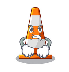 angry the traffic cone with character shape vector image