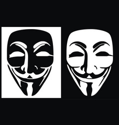 anonymous mask logo hacker icon design imag vector image