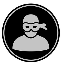 Anonymous thief black coin vector
