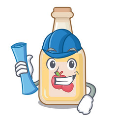 Architect apple cider isolated with mascot vector