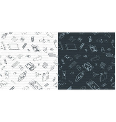 Arduino hardware seamless pattern drawings vector