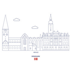 arhus city skyline vector image