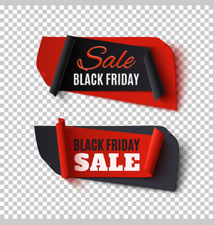Black friday sale two abstract banners vector