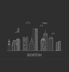 boston city skyline usa vector image
