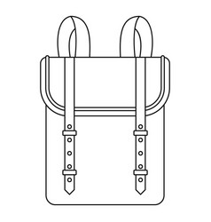 Boy backpack icon outline style vector