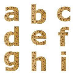 Bubble alphabet - part 1 vector