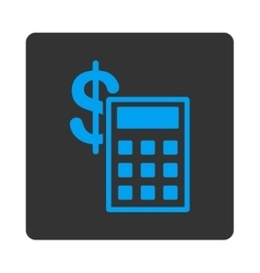 Calculation Icon from Commerce Buttons OverColor vector image