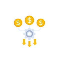 Cash flow optimization icon vector