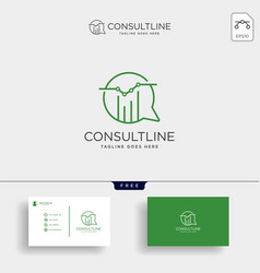 Chart consulting business consult creative logo vector