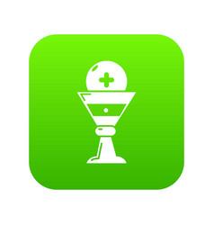 Church goblet glyph icon green vector
