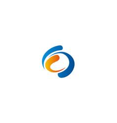 Circle abstract technology logo vector