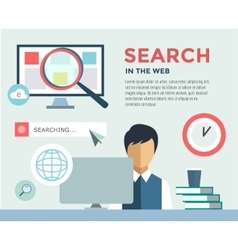 Clerk at Work infographic Office Table Search vector image