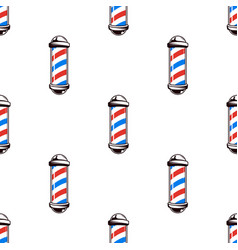 colorful seamless pattern with barber poles vector image