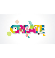 Create word design concept modern with abstract vector