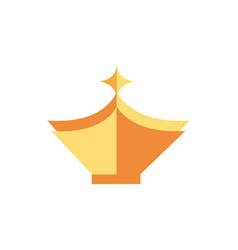 crown monarch jewel royalty medieval vector image