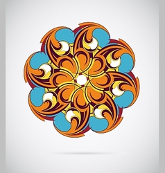 Design element - round mandala ornament vector image
