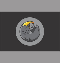 different lazy sleepy lying kitties collection vector image