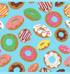 Donut toss blue vector