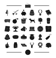 Earth alcohol weapons and other web icon in vector
