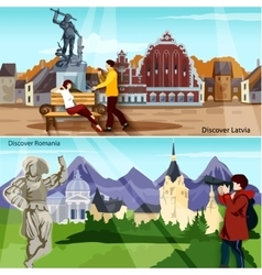 European Countries Compositions Set vector
