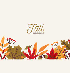 fall hand drawn background autumn vector image