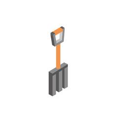 farm pitchfork tool rural isometric icon vector image