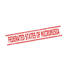Federated states micronesia stamp with corroded vector