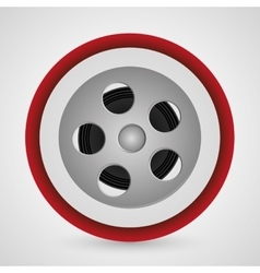 Film reel cinema and movie design vector