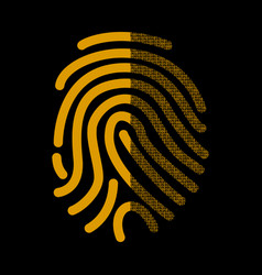 fingerprint signature in binary code vector image