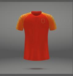 Football kit of china vector