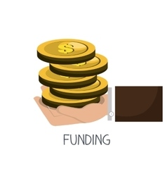 funding concept design vector image