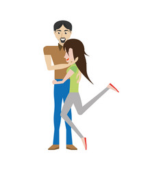 funny couple romantic image vector image