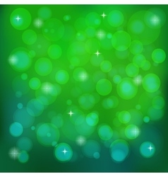 Green abstract blurred background vector image
