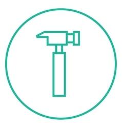 Hammer line icon vector image