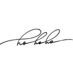 ho phrase modern brush calligraphy vector image