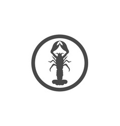 icon crayfish lobster vector image