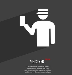 Inspector icon symbol Flat modern web design with vector