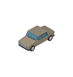 isolated car isometric auto element can b vector image