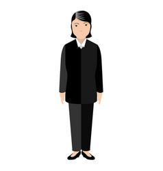 Isolated lawyer avatar vector