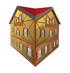 isolated medival house vector image