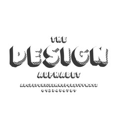 latin alphabet design bold font in cute cartoon vector image