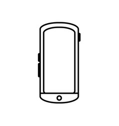 line smartphone mobile technology to call and talk vector image