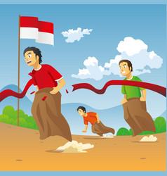 Lomba balap karung 17 agustus - translate sack vector
